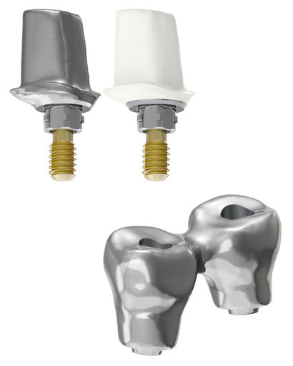 Individual abutments fabricated using titanium, cobalt chrome or Zirconia | Partial bridge restoration